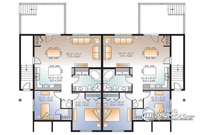 maison 2 appartements plan