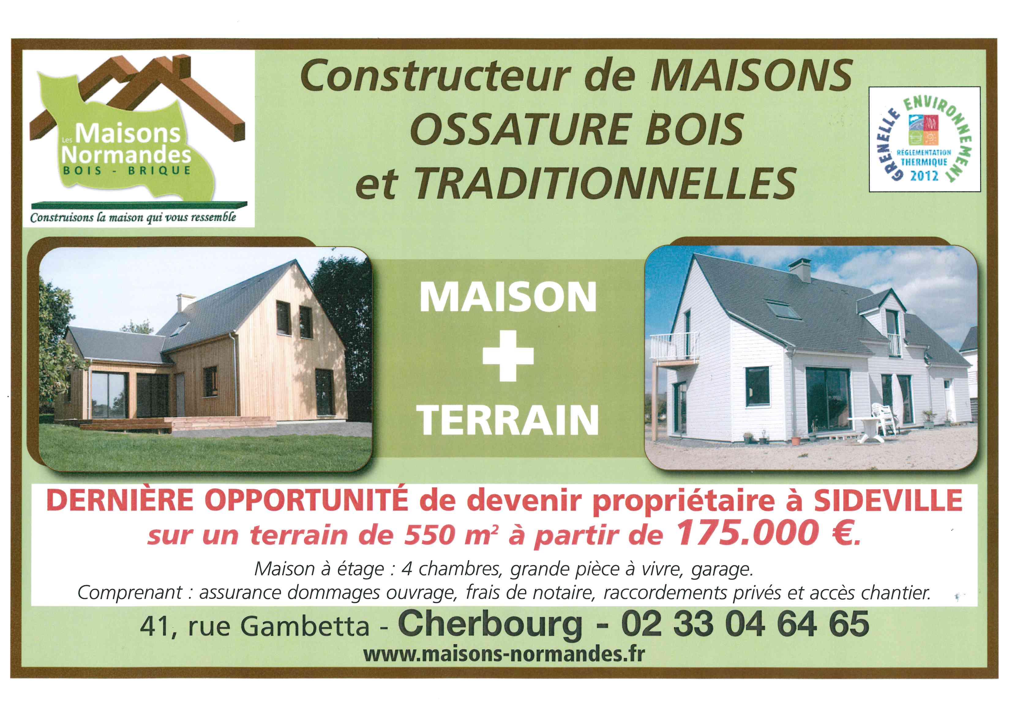 constructeur maison cherbourg