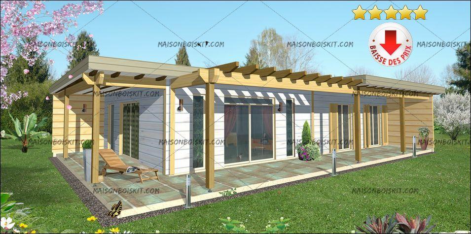Constructeur maison kit bois for Maison ossature en bois prix