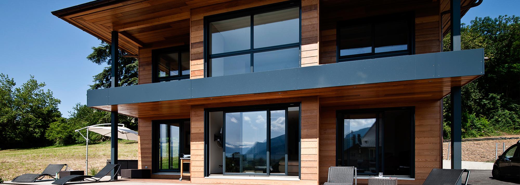 Constructeur maison ossature bois haute savoie - Maisons contemporaines en bois ...