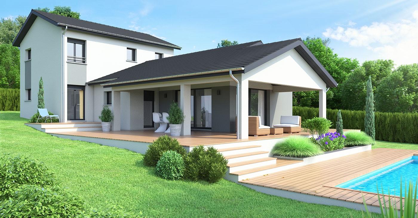 Constructeur maison terrain Maison blanche constructeur