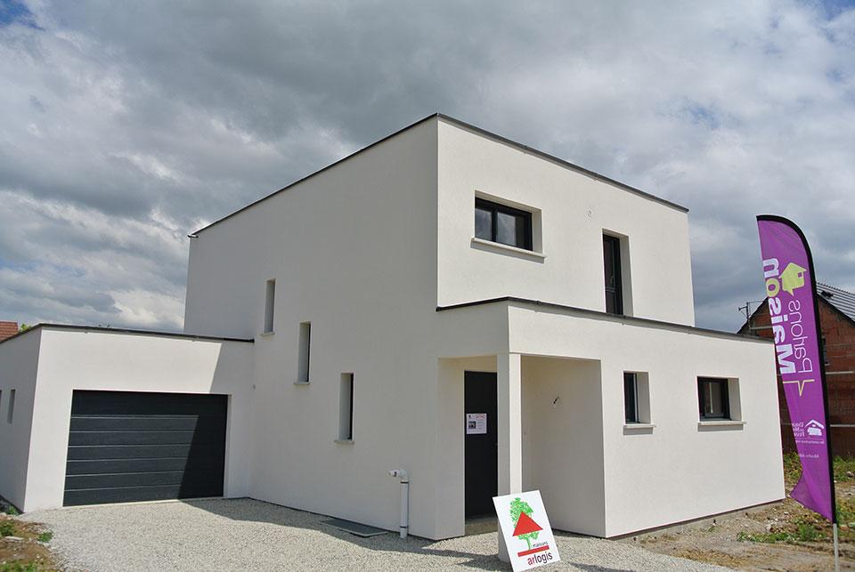 Constructeur maison toit plat alsace for Maison toit plat alsace