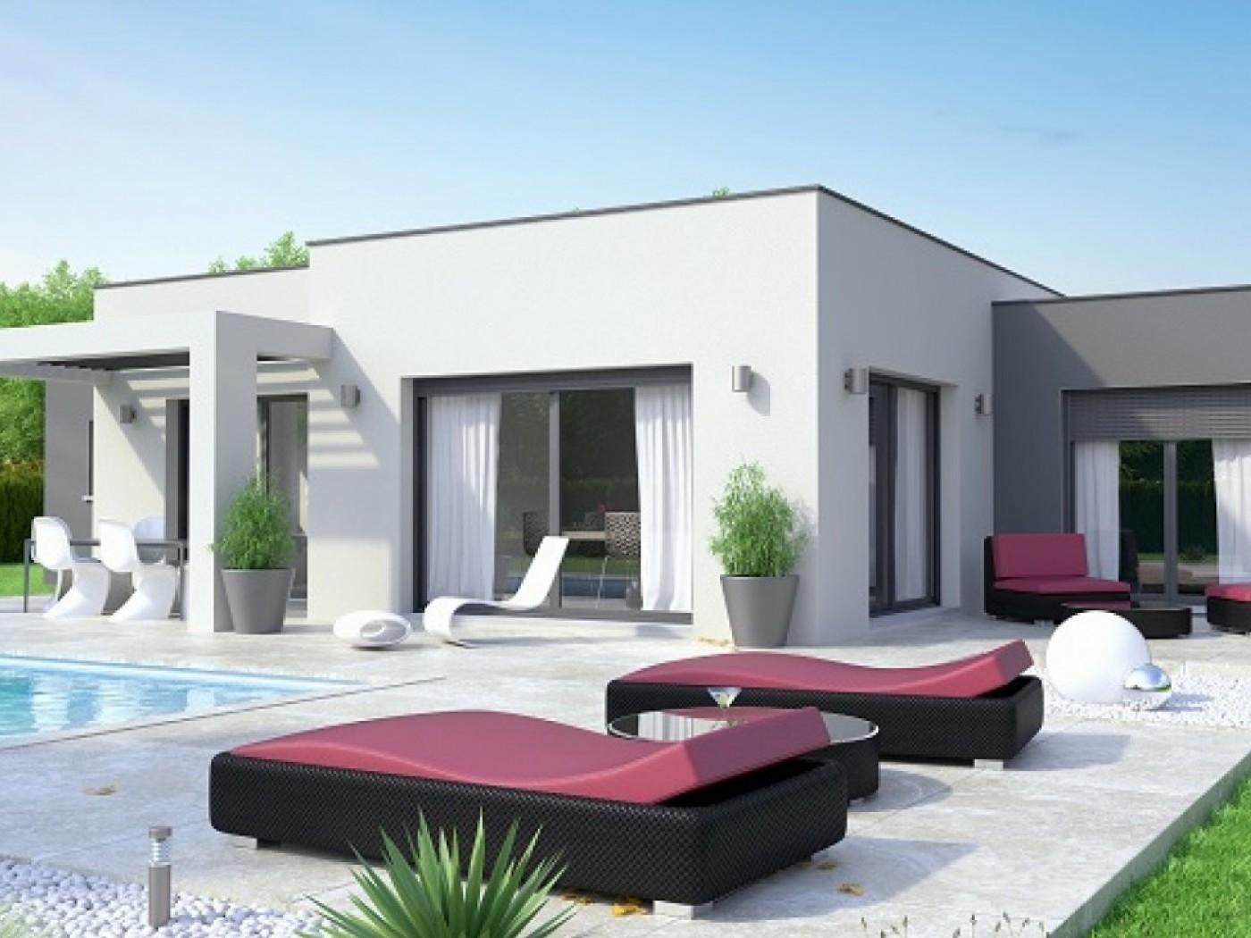 Constructeur maison toit plat rhone alpes - Maison bois moderne toit plat ...