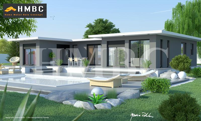 Constructeur maison contemporaine toit plat
