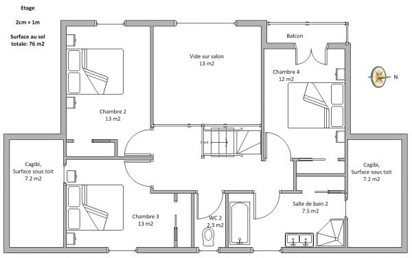 maison etage 100m2