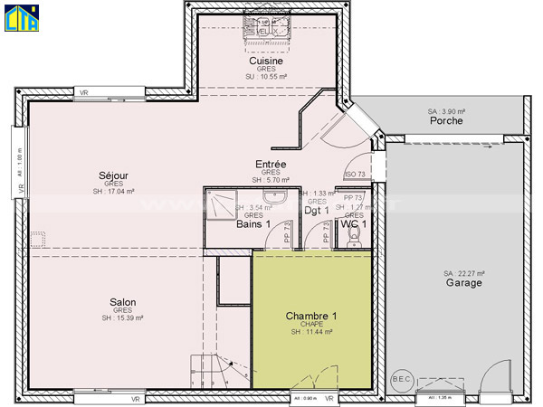 maison etage 120