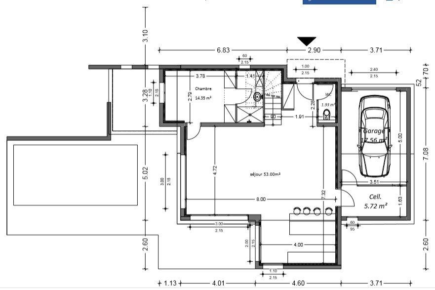 maison etage 130 m2. Black Bedroom Furniture Sets. Home Design Ideas