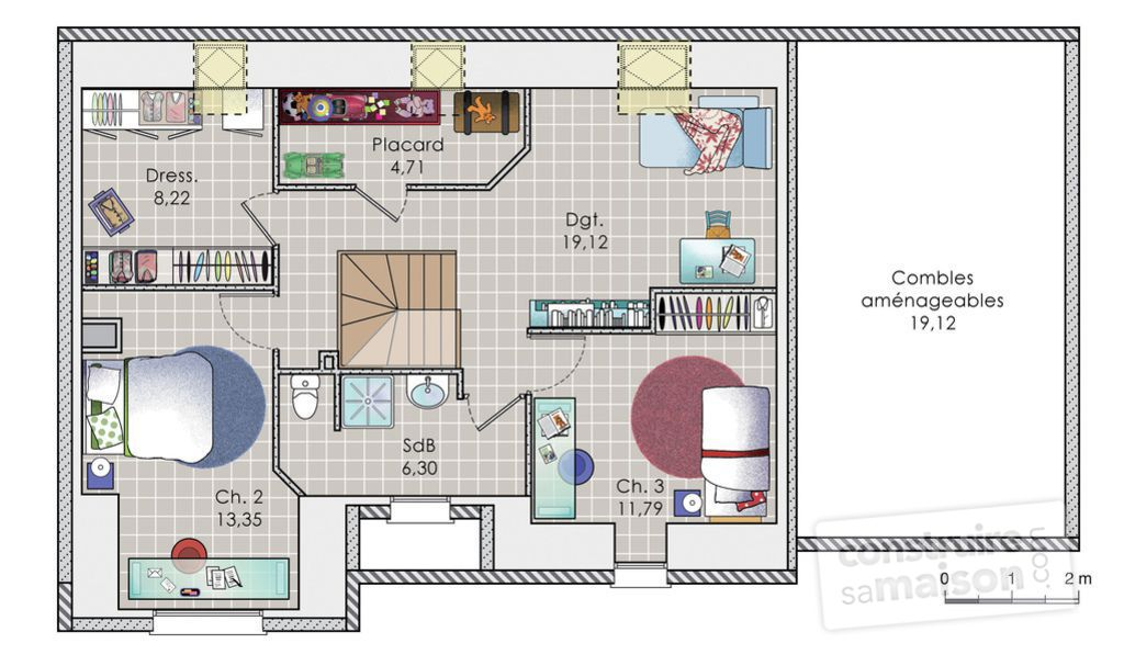 maison etage 140m2