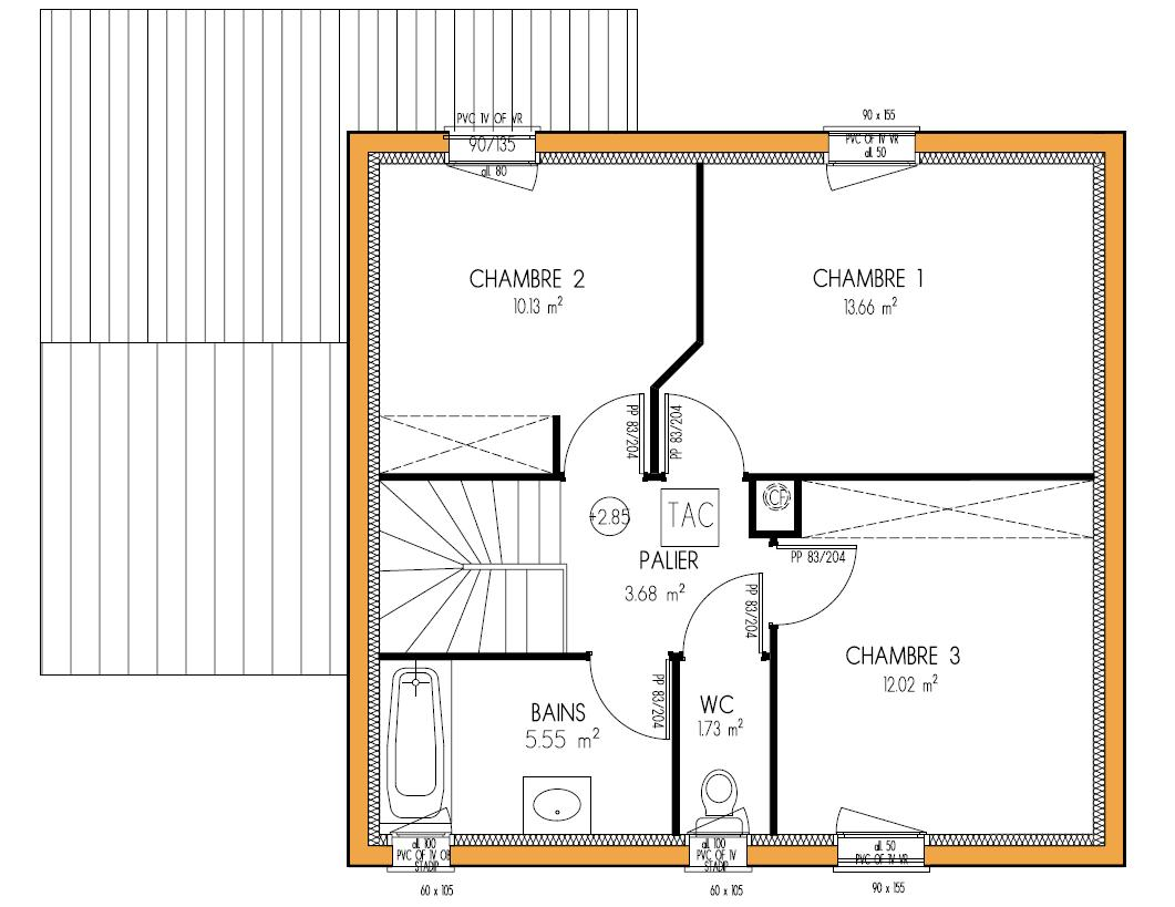 maison etage 3 chambres