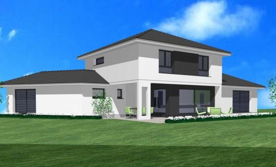 maison etage 4 pans