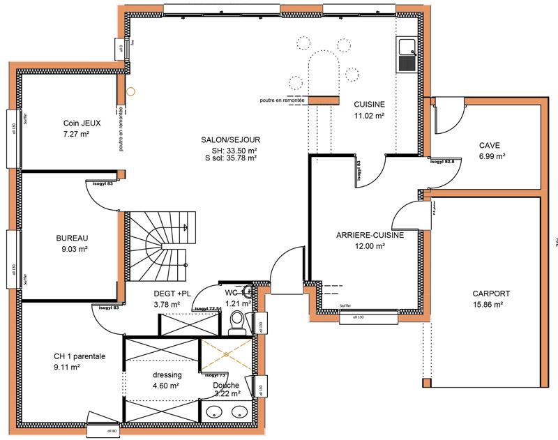 Maison 5 Chambres Plan 14 Pieces 181 M2 Dessine Par Rosita51