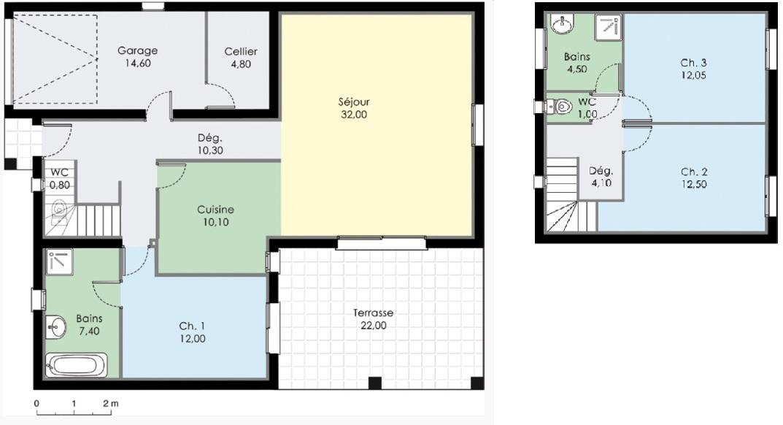 maison etage 70m2