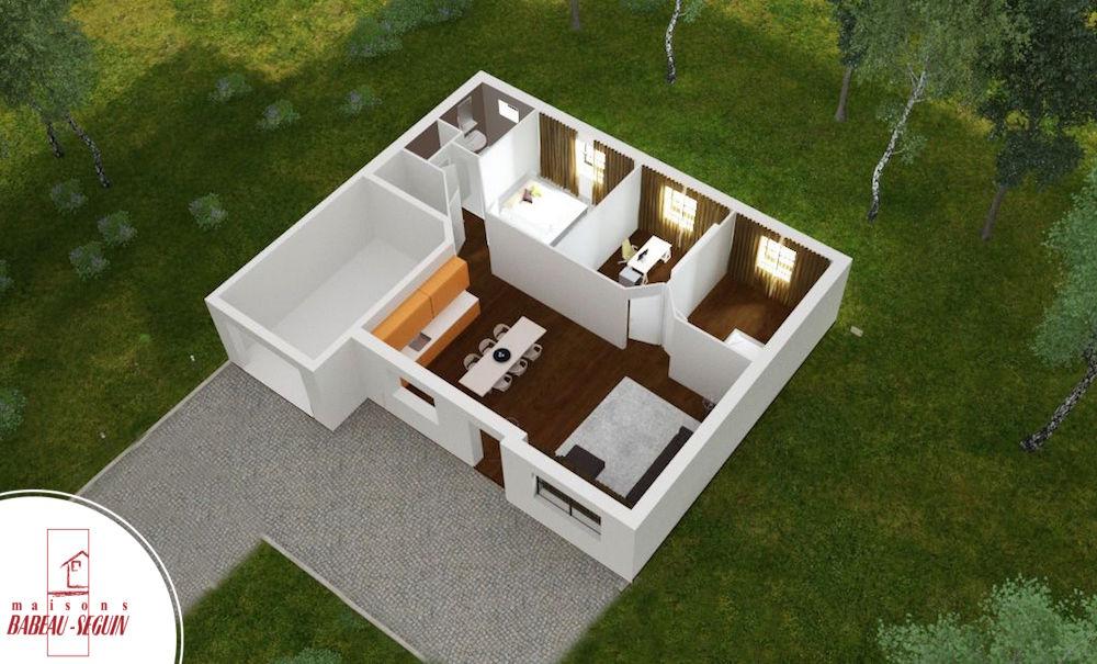 maison etage 75m2