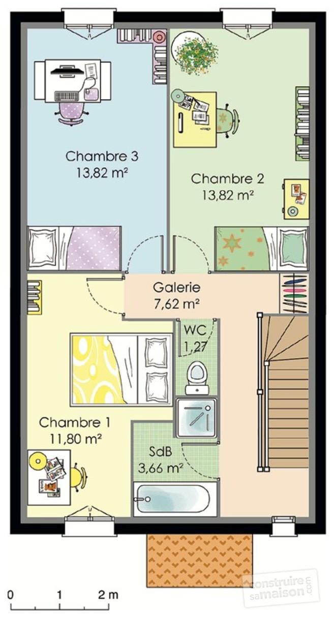 Maison Etage 80m2