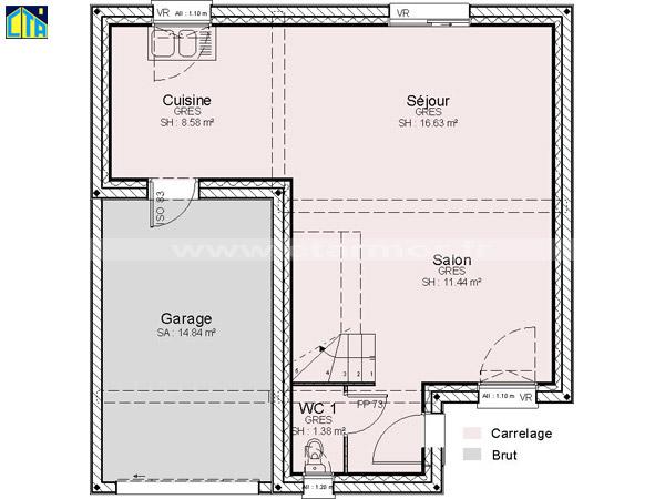 plan de maison de 80m2