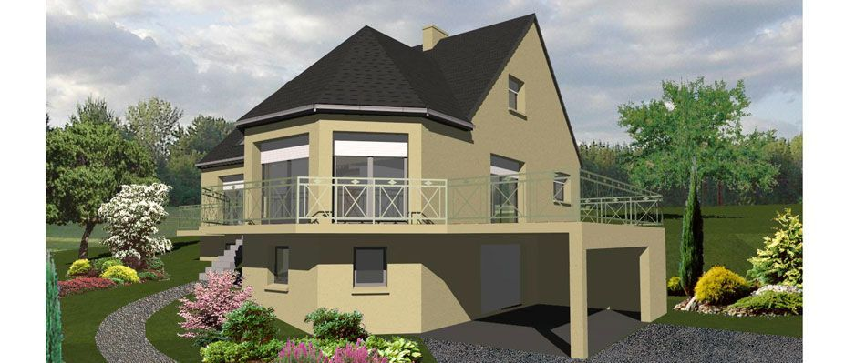 maison etage avec balcon