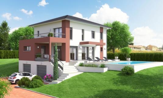 Maison etage avec sous sol - Maison avec balcon terrasse ...
