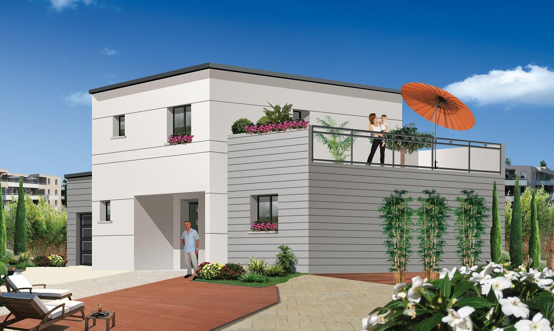 Maison etage avec terrasse - Modele d architecture de maison ...