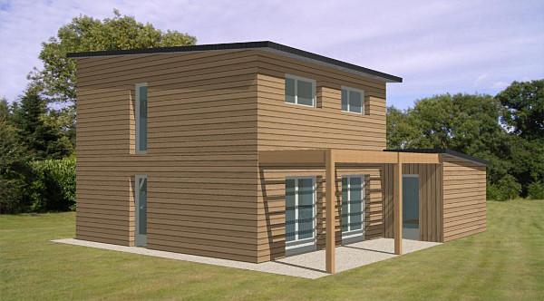 maison etage bois