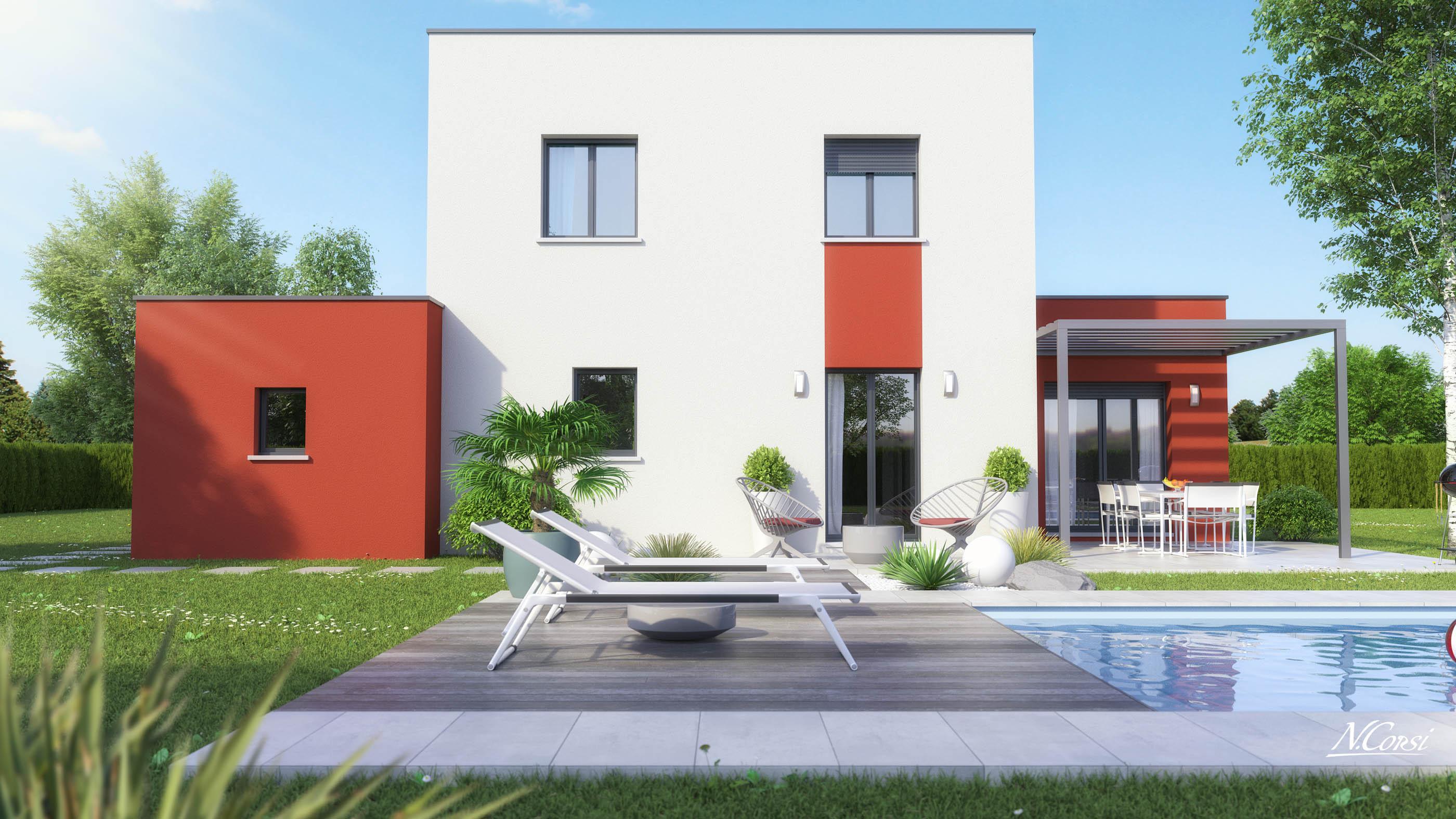 maison etage design. Black Bedroom Furniture Sets. Home Design Ideas