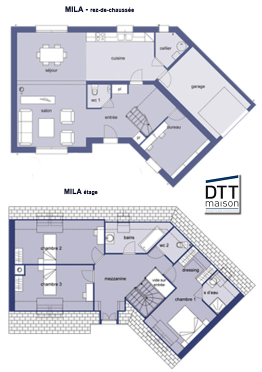 maison etage en v