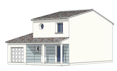 maison etage garage integre