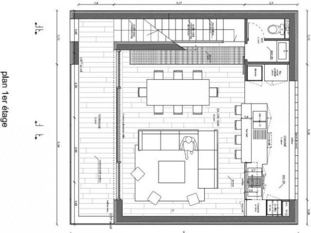 maison etage inverse