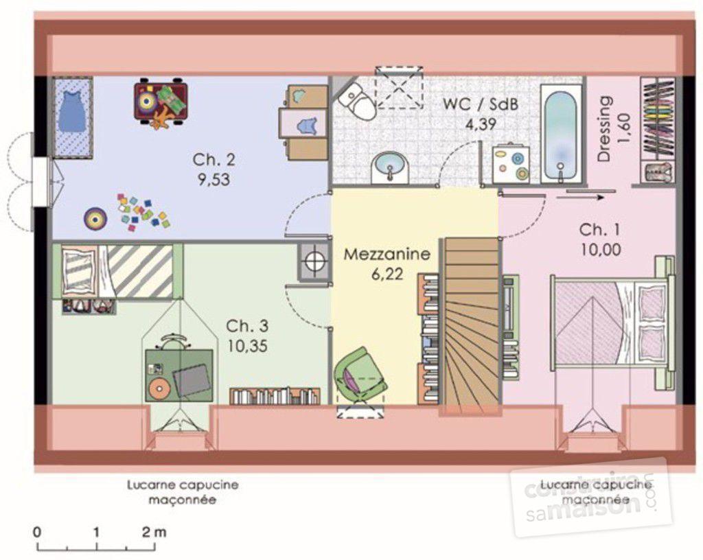 maison etage mansarde