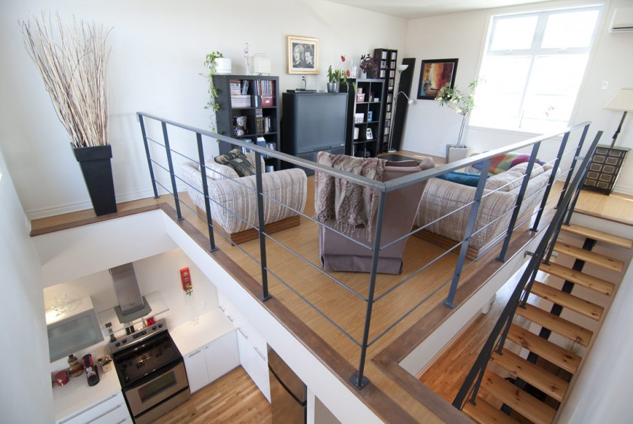 Maison etage mezzanine - Plan de maison avec cuisine ouverte ...