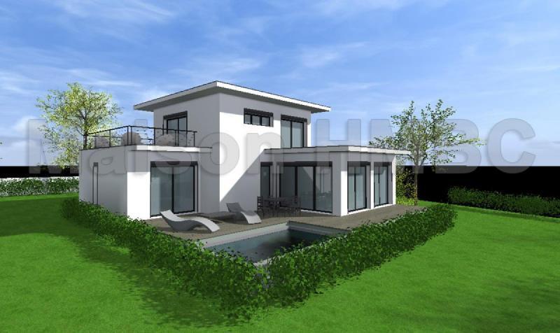 Maison etage toit terrasse for Maison a etage moderne