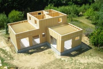maison etage ossature bois
