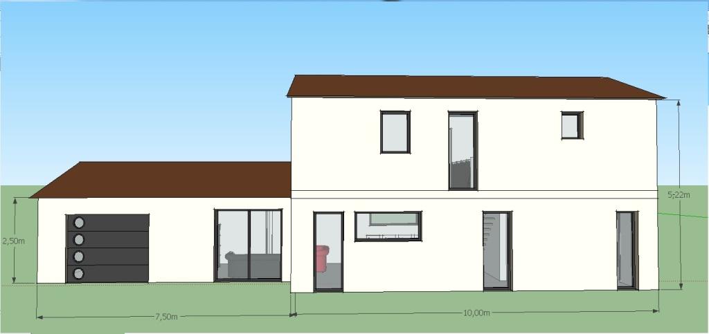 Plan maison etage partiel