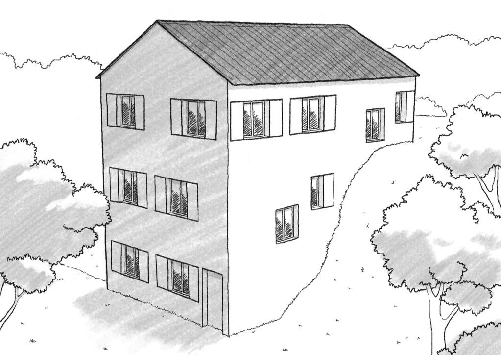 maison etage pente