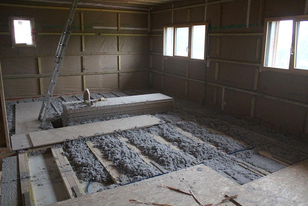 maison etage plancher bois ou beton