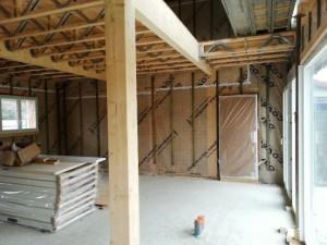 maison etage plancher bois