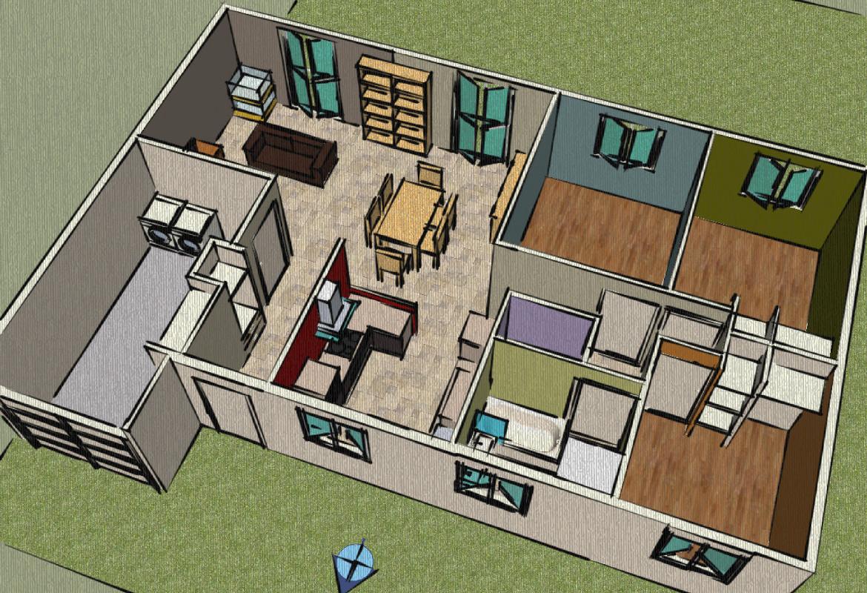 maison etage sketchup