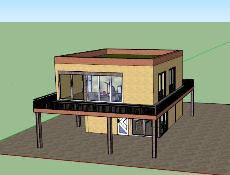 maison etage sketchup. Black Bedroom Furniture Sets. Home Design Ideas