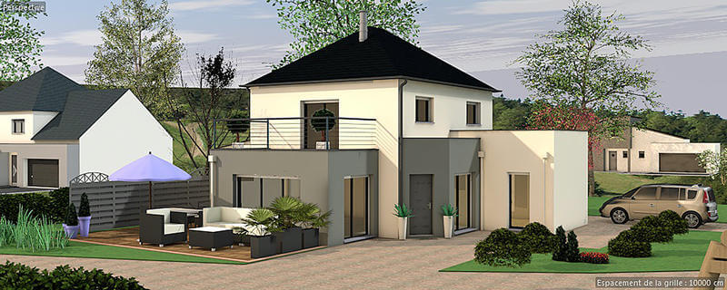 maison etage terrasse
