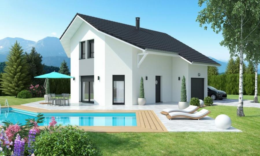 maison etage toit 2 pans