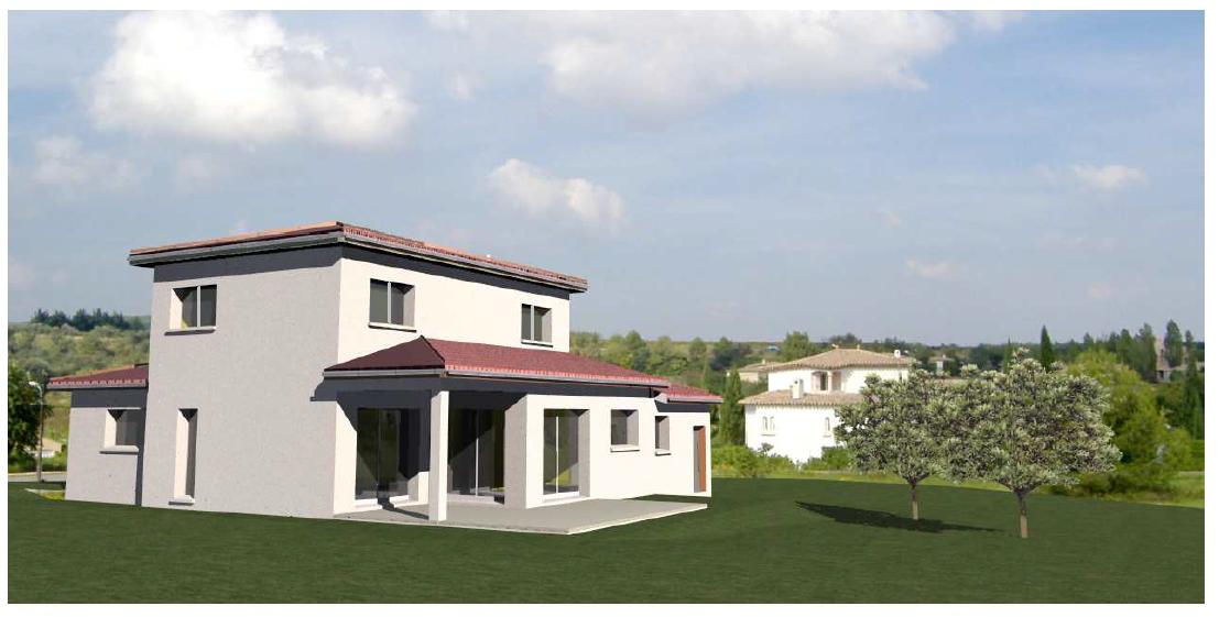 maison etage toit 4 pentes