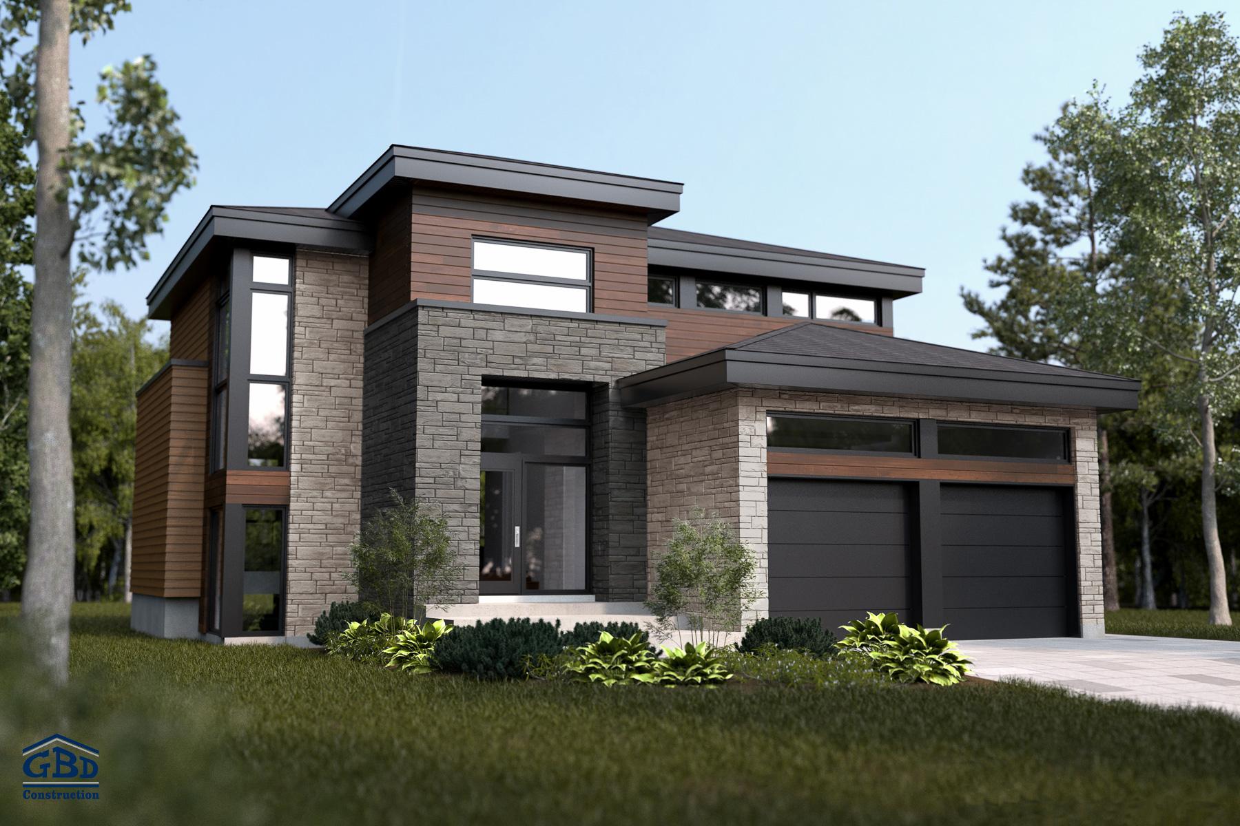 maison moderne 2 etages
