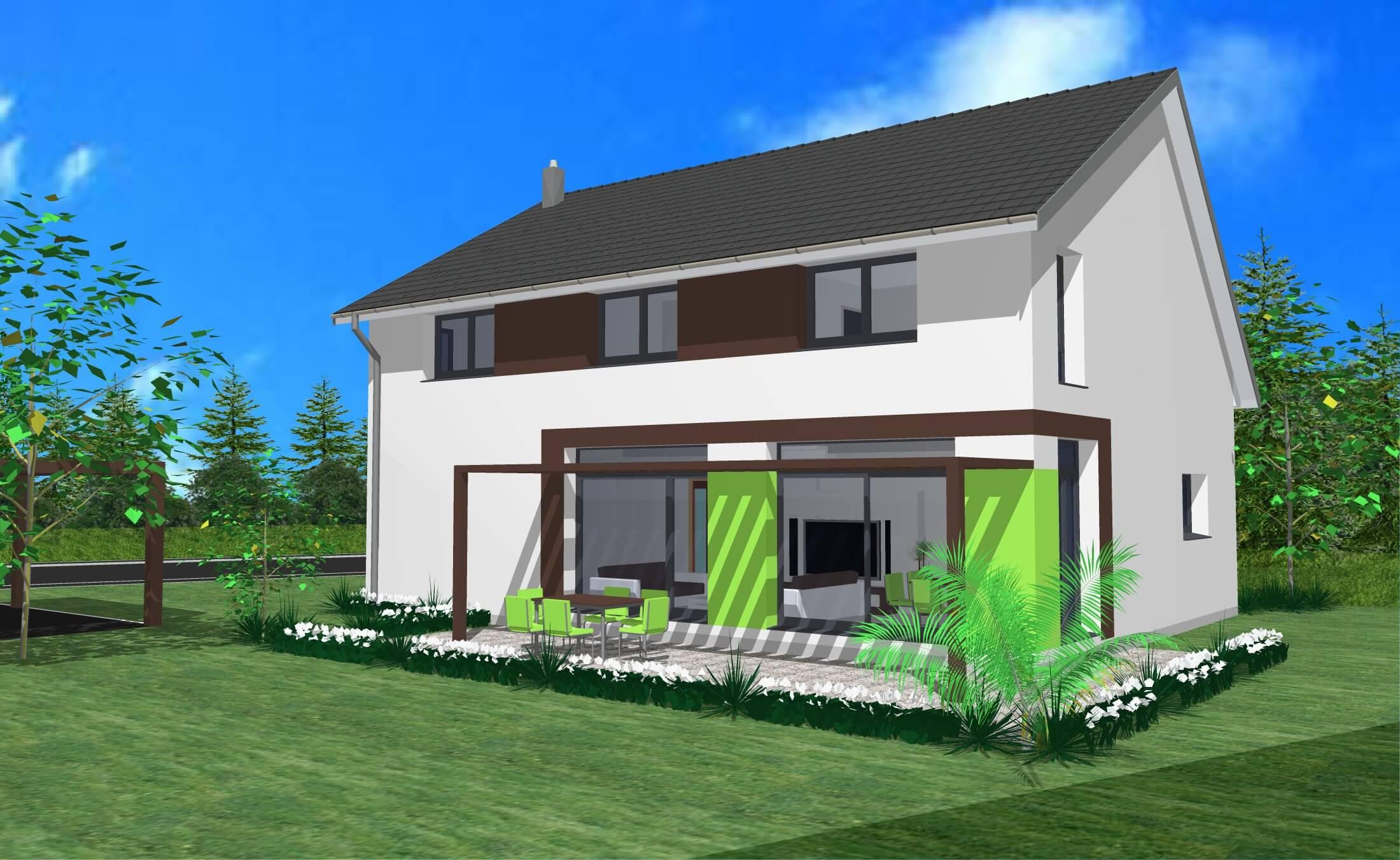 maison moderne 2 pans