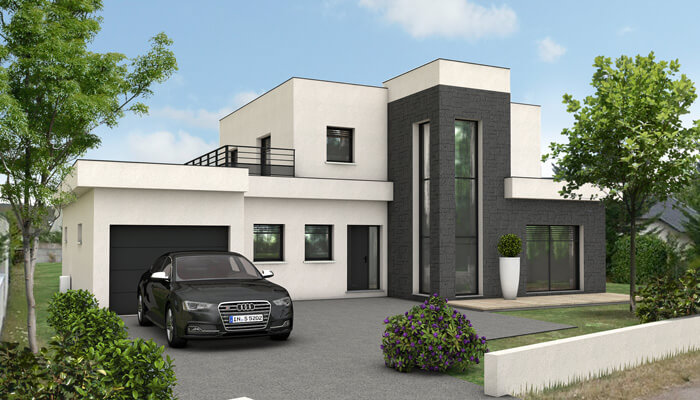 Maison moderne 200m2 for Plan architecte villa moderne