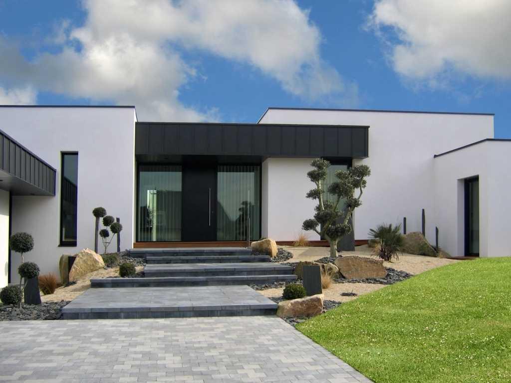 Maison moderne 2018 - Entree exterieure maison contemporaine ...