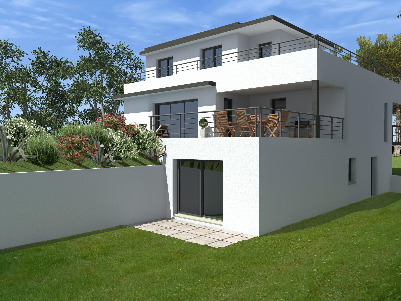 maison moderne 250m2. Black Bedroom Furniture Sets. Home Design Ideas