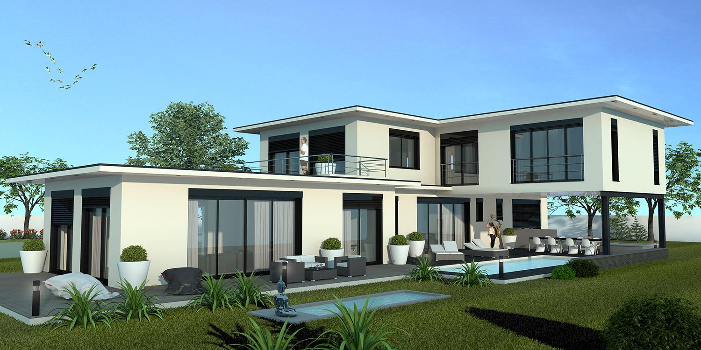 Maison moderne 300m2 - Plan maison americaine moderne ...