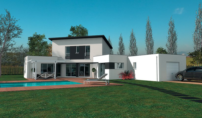 Maison moderne 4 chambres - Plan etage 4 chambres ...