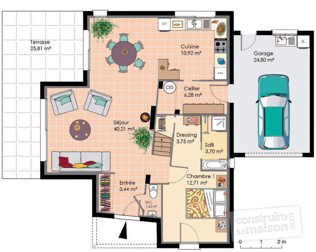 maison moderne 40m2