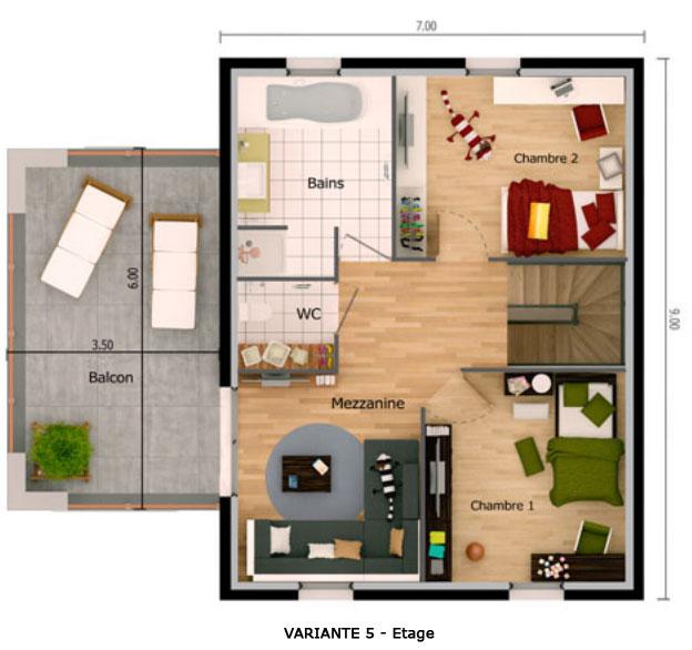 maison moderne 50m2. Black Bedroom Furniture Sets. Home Design Ideas