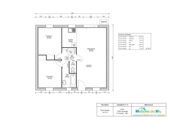maison moderne 60m2